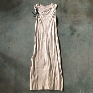 Ann Demeulemeester Cream Color Rayon Dress Size 36